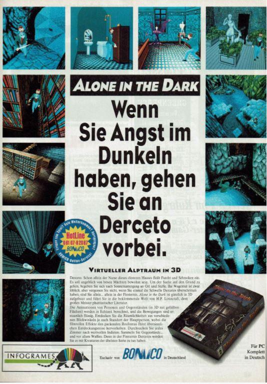 Alone in the Dark 1992 magazine ad