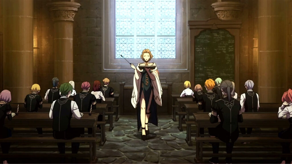 Three Houses teacher and students