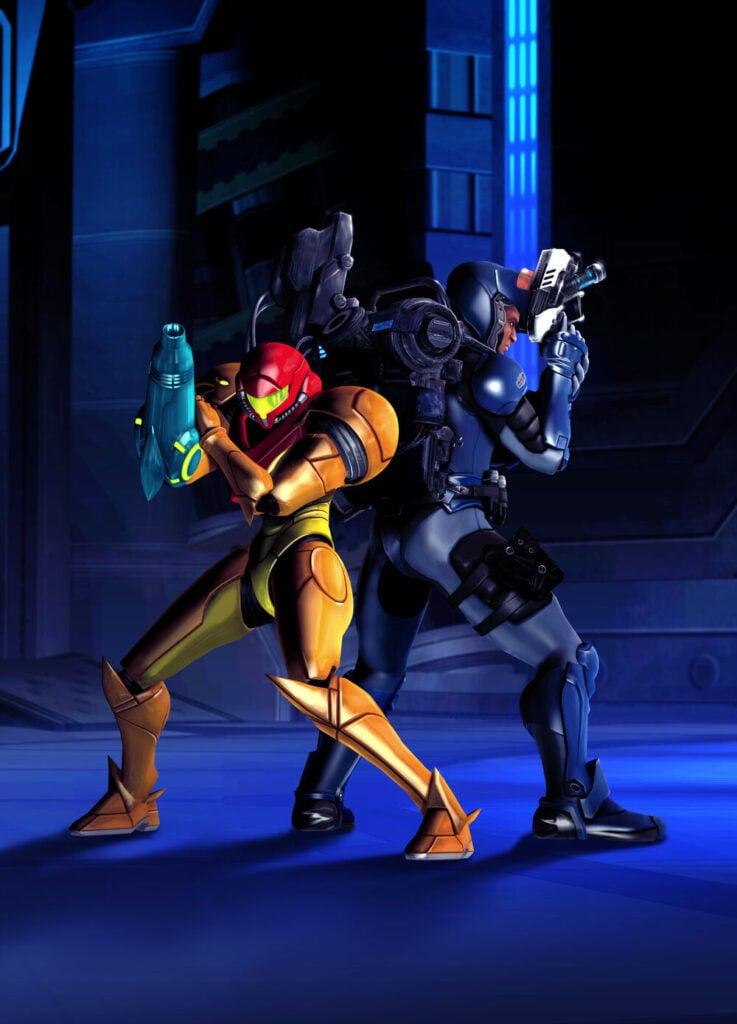 Samus and Anthony - image courtesy of Metroid Wiki