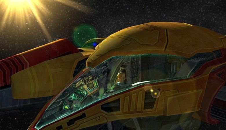 Metroid Prime 3 Corruption Samus gunship - image courtesy of Retro Gaming Blog