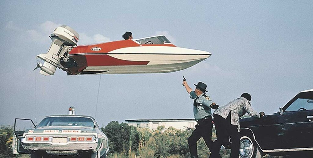 Man With the Golden Gun boat flip