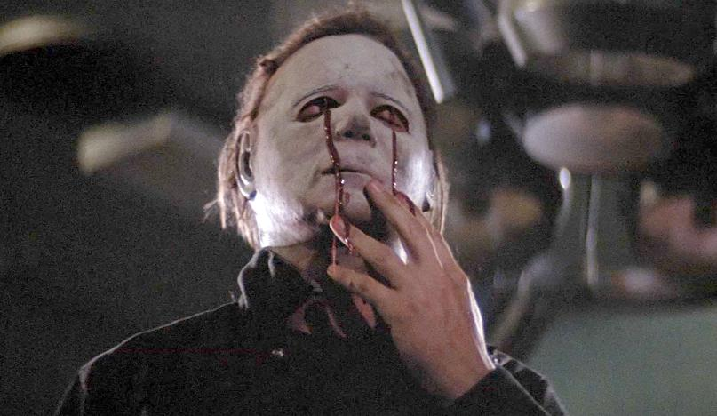 Halloween II: blood streaming from Myers' eyes